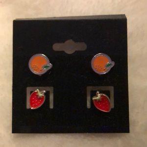 NEW Fruits post earrings
